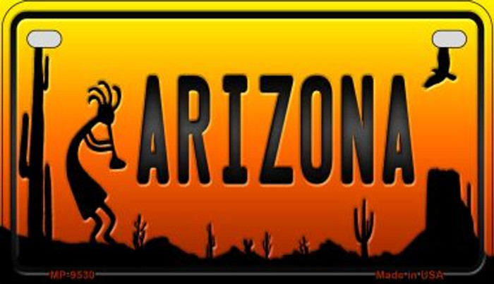Kokopelli Arizona Western Wholesale Novelty Metal Motorcycle Plate MP-9530