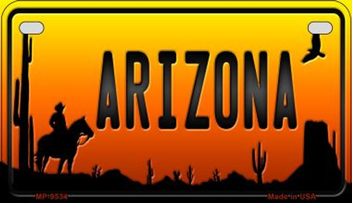 Cowboy Arizona Western Wholesale Novelty Metal Motorcycle Plate MP-9534