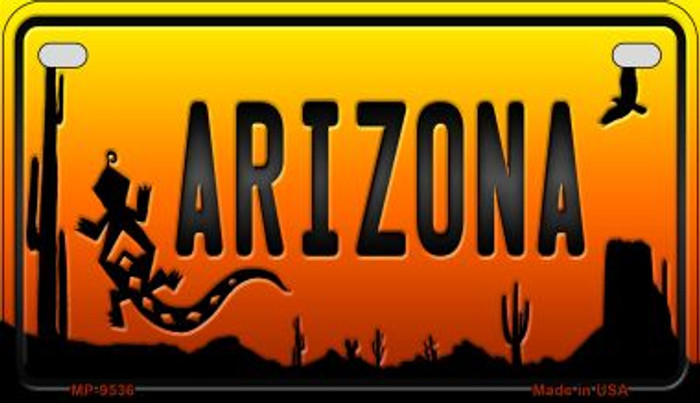 Lizard Arizona Western Wholesale Novelty Metal Motorcycle Plate MP-9536