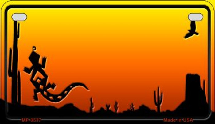 Lizard Sunset Arizona Western Wholesale Novelty Metal Motorcycle Plate MP-9537