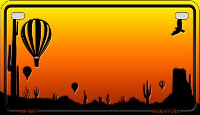 Balloon Sunset Arizona Western Wholesale Novelty Metal Motorcycle Plate MP-9541