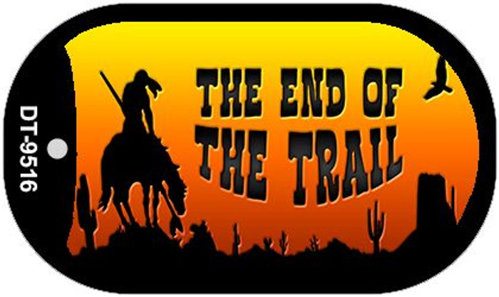 End of the Trail Arizona Western Wholesale Novelty Metal Dog Tag Necklace DT-9516