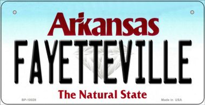 Fayetteville Arkansas Wholesale Novelty Metal Bicycle Plate BP-10028