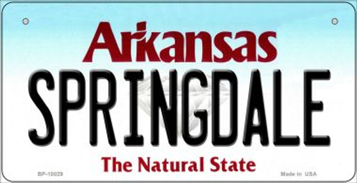 Springdale Arkansas Wholesale Novelty Metal Bicycle Plate BP-10029