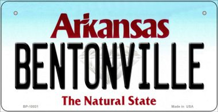 Bentonville Arkansas Wholesale Novelty Metal Bicycle Plate BP-10031