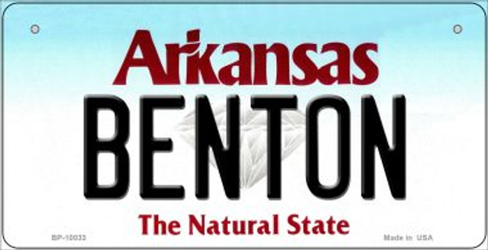 Benton Arkansas Wholesale Novelty Metal Bicycle Plate BP-10033