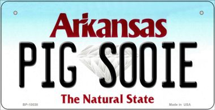 Pig Sooie Arkansas Wholesale Novelty Metal Bicycle Plate BP-10038