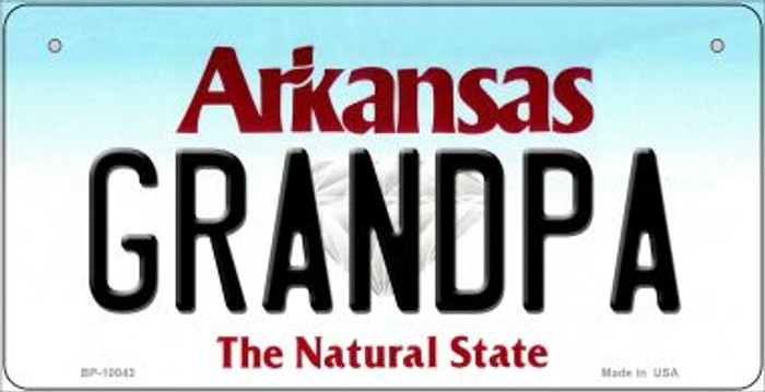 Grandpa Arkansas Wholesale Novelty Metal Bicycle Plate BP-10043