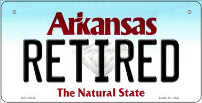 Retired Arkansas Wholesale Novelty Metal Bicycle Plate BP-10044