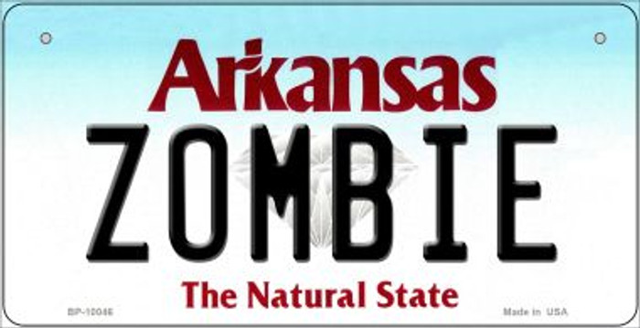 Zombie Arkansas Wholesale Novelty Metal Bicycle Plate BP-10046