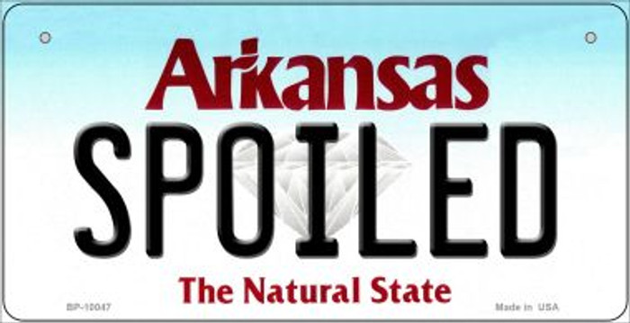 Spoiled Arkansas Wholesale Novelty Metal Bicycle Plate BP-10047