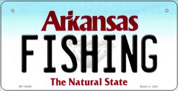 Fishing Arkansas Wholesale Novelty Metal Bicycle Plate BP-10049