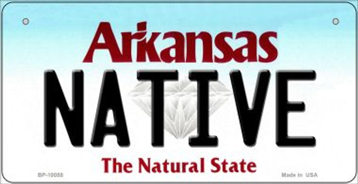 Native Arkansas Wholesale Novelty Metal Bicycle Plate BP-10055