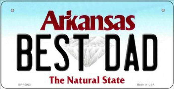 Best Dad Arkansas Wholesale Novelty Metal Bicycle Plate BP-10062