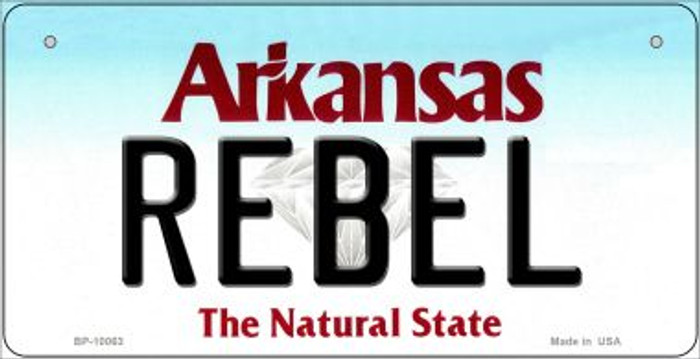 Rebel Arkansas Wholesale Novelty Metal Bicycle Plate BP-10063