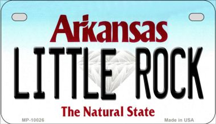 Little Rock Arkansas Wholesale Novelty Metal Motorcycle Plate MP-10026