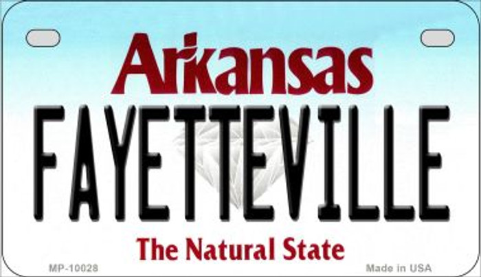 Fayetteville Arkansas Wholesale Novelty Metal Motorcycle Plate MP-10028