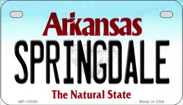 Springdale Arkansas Wholesale Novelty Metal Motorcycle Plate MP-10029