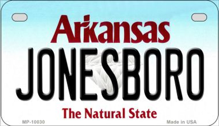 Jonesboro Arkansas Wholesale Novelty Metal Motorcycle Plate MP-10030
