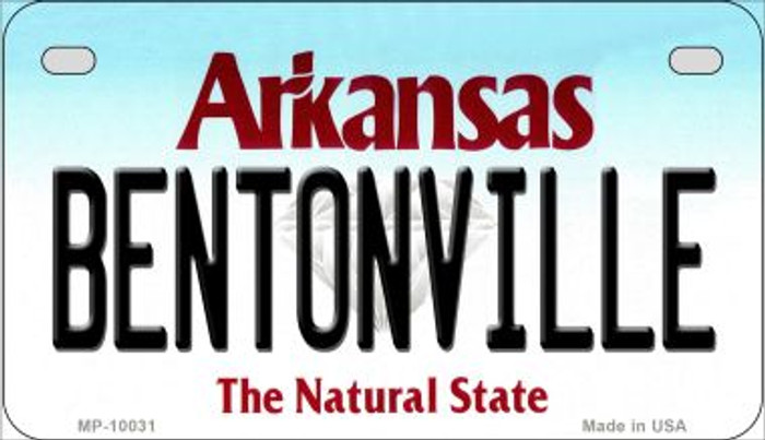 Bentonville Arkansas Wholesale Novelty Metal Motorcycle Plate MP-10031