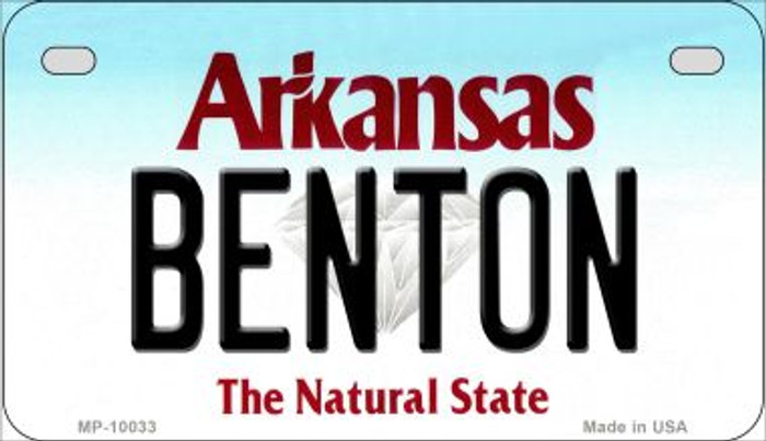 Benton Arkansas Wholesale Novelty Metal Motorcycle Plate MP-10033
