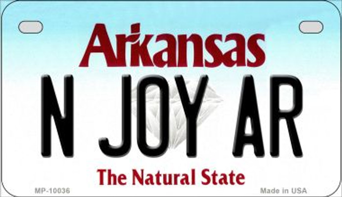 N Joy AR Arkansas Wholesale Novelty Metal Motorcycle Plate MP-10036