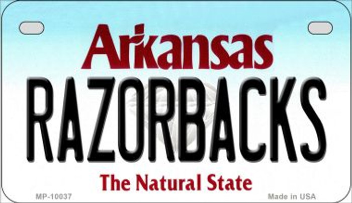 Razorbacks Arkansas Wholesale Novelty Metal Motorcycle Plate MP-10037