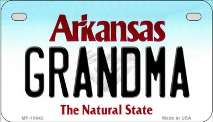 Grandma Arkansas Wholesale Novelty Metal Motorcycle Plate MP-10042