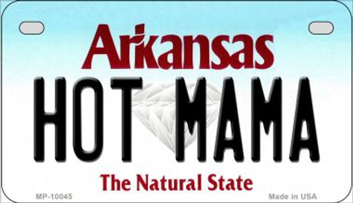 Hot Mama Arkansas Wholesale Novelty Metal Motorcycle Plate MP-10045
