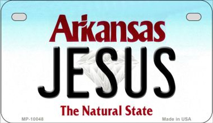 Jesus Arkansas Wholesale Novelty Metal Motorcycle Plate MP-10048