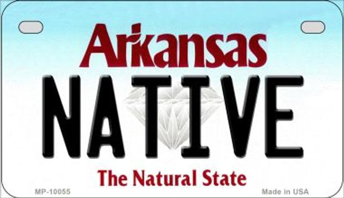 Native Arkansas Wholesale Novelty Metal Motorcycle Plate MP-10055