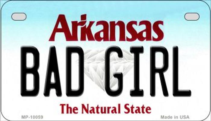 Bad Girl Arkansas Wholesale Novelty Metal Motorcycle Plate MP-10059