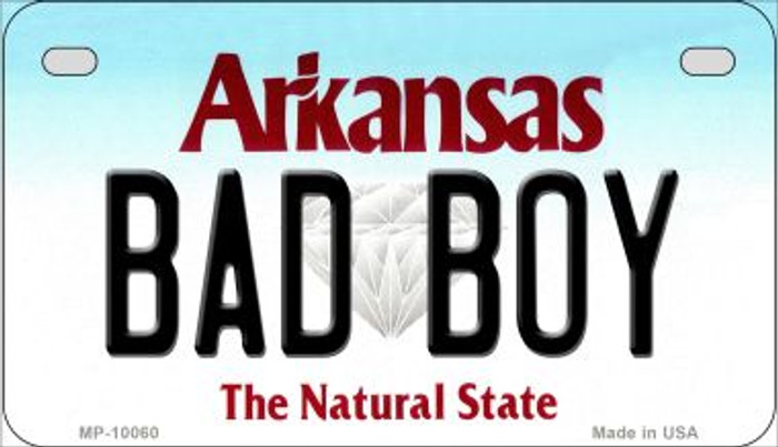 Bad Boy Arkansas Wholesale Novelty Metal Motorcycle Plate MP-10060