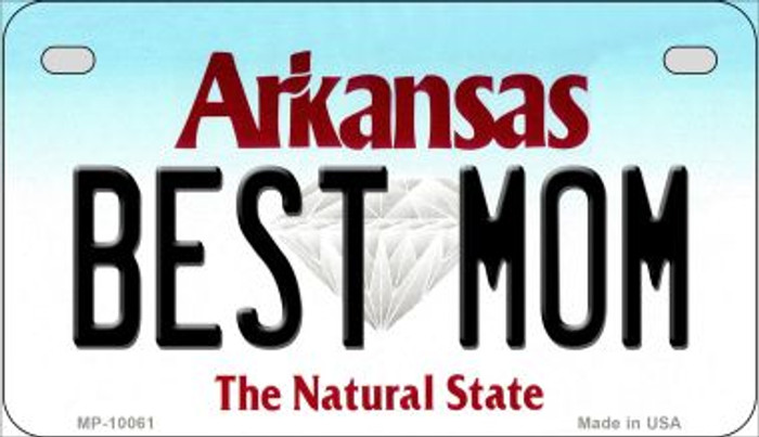 Best Mom Arkansas Wholesale Novelty Metal Motorcycle Plate MP-10061