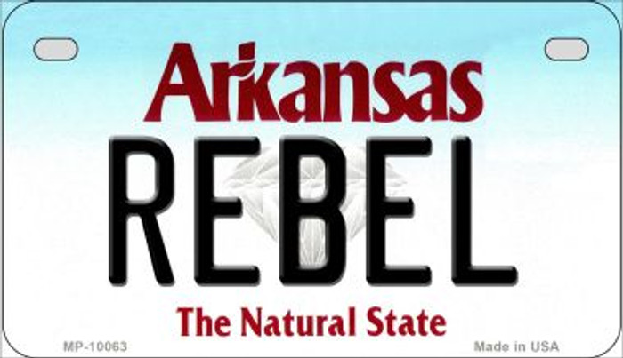 Rebel Arkansas Wholesale Novelty Metal Motorcycle Plate MP-10063