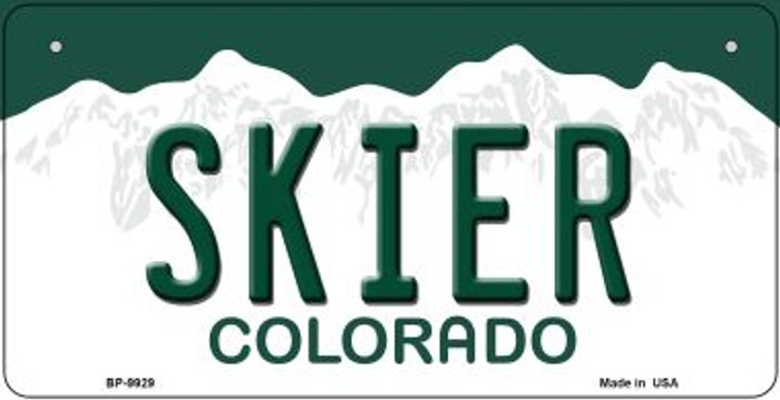 Skier Colorado Wholesale Novelty Metal Bicycle Plate BP-9929