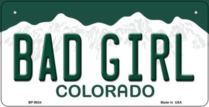 Bad Girl Colorado Wholesale Novelty Metal Bicycle Plate BP-9934