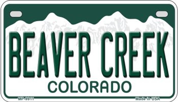Beaver Creek Colorado Wholesale Novelty Metal Motorcyle Plate MP-9911