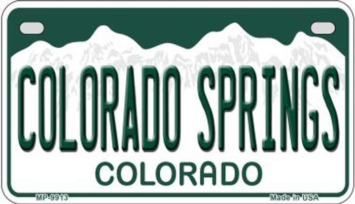 Colorado Springs Colorado Wholesale Novelty Metal Motorcyle Plate MP-9913