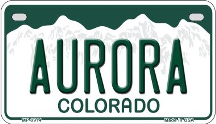 Aurora Colorado Wholesale Novelty Metal Motorcyle Plate MP-9914