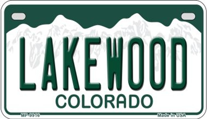 Lakewood Colorado Wholesale Novelty Metal Motorcyle Plate MP-9916