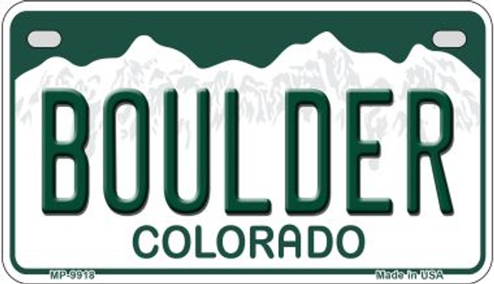 Boulder Colorado Wholesale Novelty Metal Motorcyle Plate MP-9918