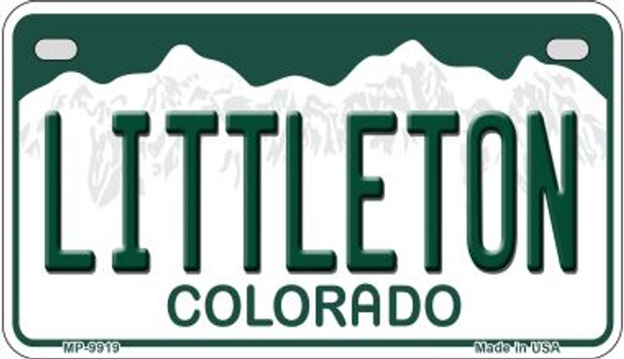 Littleton Colorado Wholesale Novelty Metal Motorcyle Plate MP-9919
