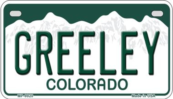 Greeley Colorado Wholesale Novelty Metal Motorcyle Plate MP-9920