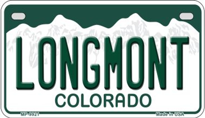 Longmont Colorado Wholesale Novelty Metal Motorcyle Plate MP-9921