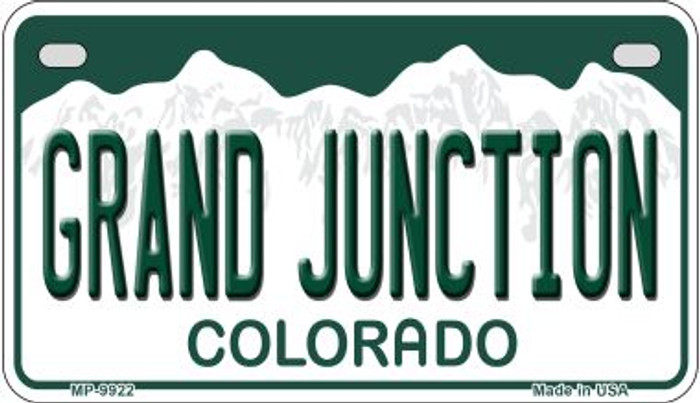 Grand Junction Colorado Wholesale Novelty Metal Motorcyle Plate MP-9922