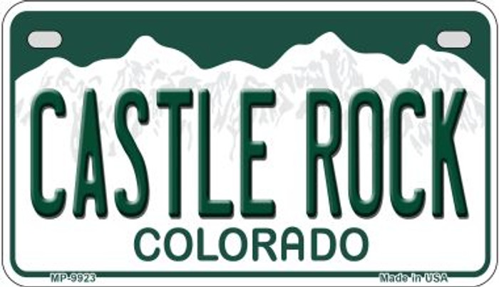 Castle Rock Colorado Wholesale Novelty Metal Motorcyle Plate MP-9923