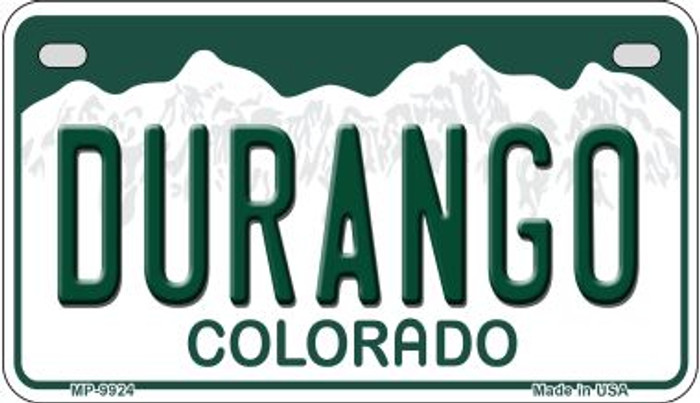 Durango Colorado Wholesale Novelty Metal Motorcyle Plate MP-9924