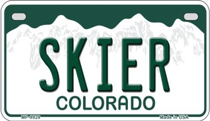Skier Colorado Wholesale Novelty Metal Motorcyle Plate MP-9929