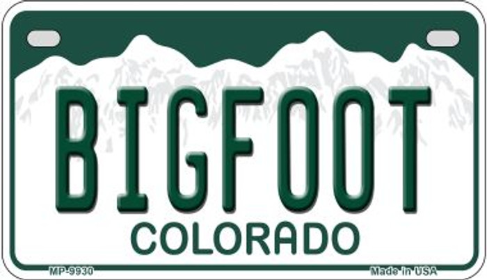 Bigfoot Colorado Wholesale Novelty Metal Motorcyle Plate MP-9930